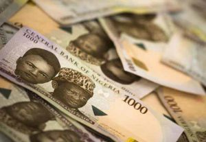 Nigerian Currency 1000 Naira notes