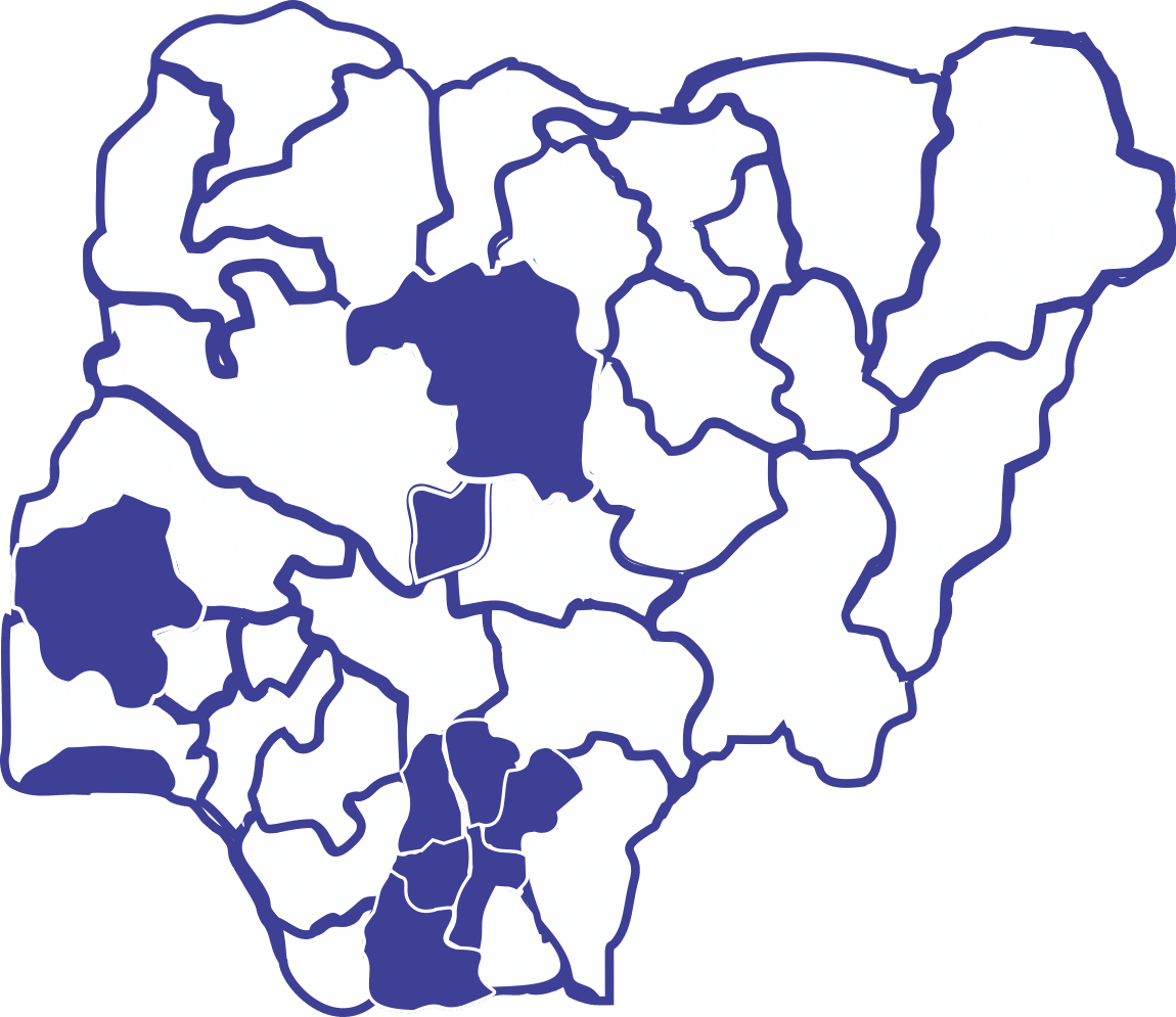 Universal Insurance Plc. branches in Nigeria using the Nigerian Map