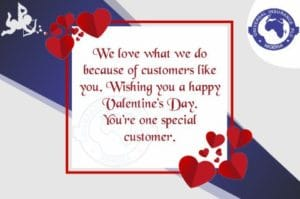 Universal Insurance Plc. Valentine Day design card