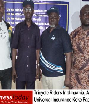 Tricycle Riders In Umuahia, Aba Endorses Universal Insurance Keke Pass