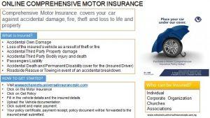 Online Comprehensive Motor Insurance full details